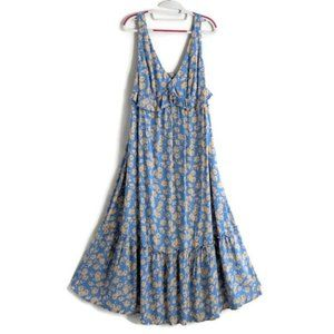 Who What Wear Daisy Blue Maxi Dress Size Small